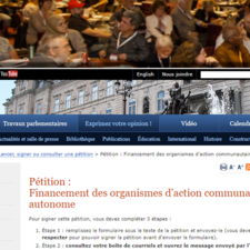 Normal petition financement groupes communautaires pf